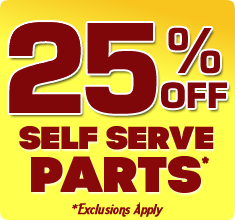 25% off Self Serve Parts